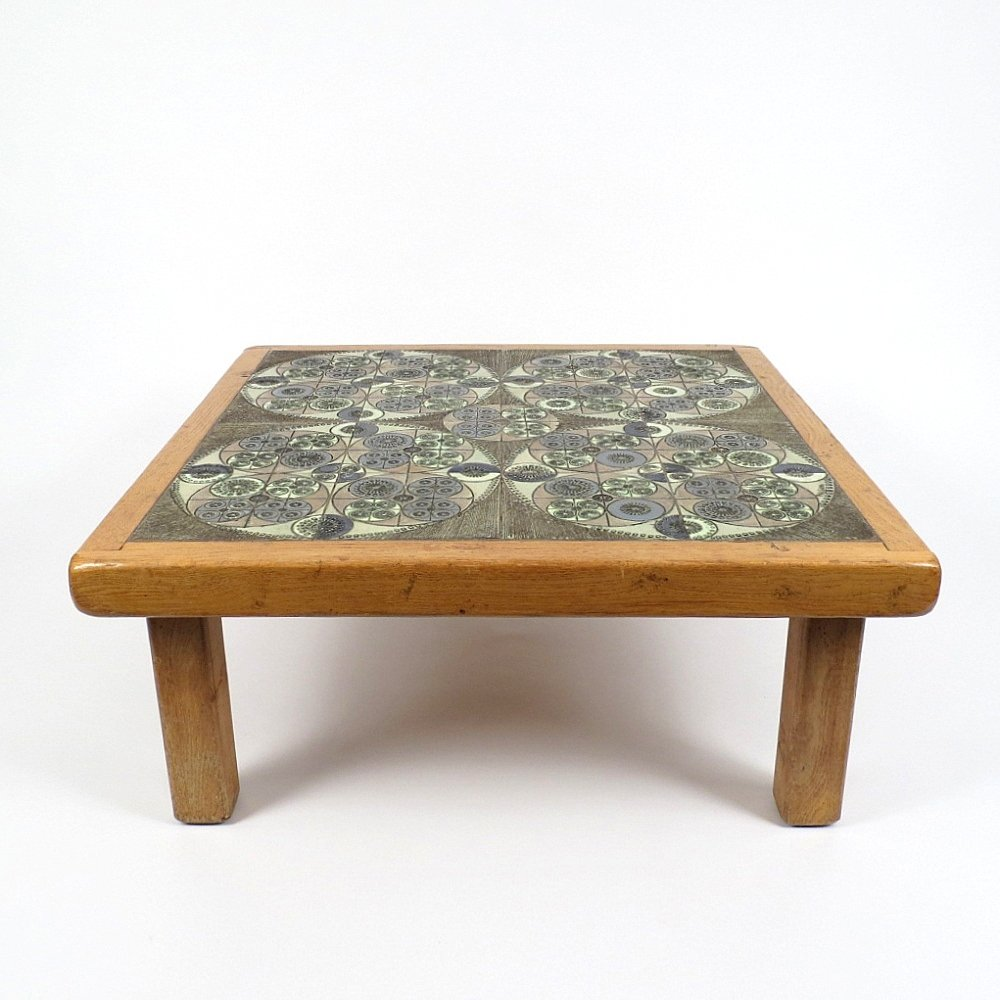 Ceramic Top Coffee Table By Pinson 1960s For Sale At Pamono