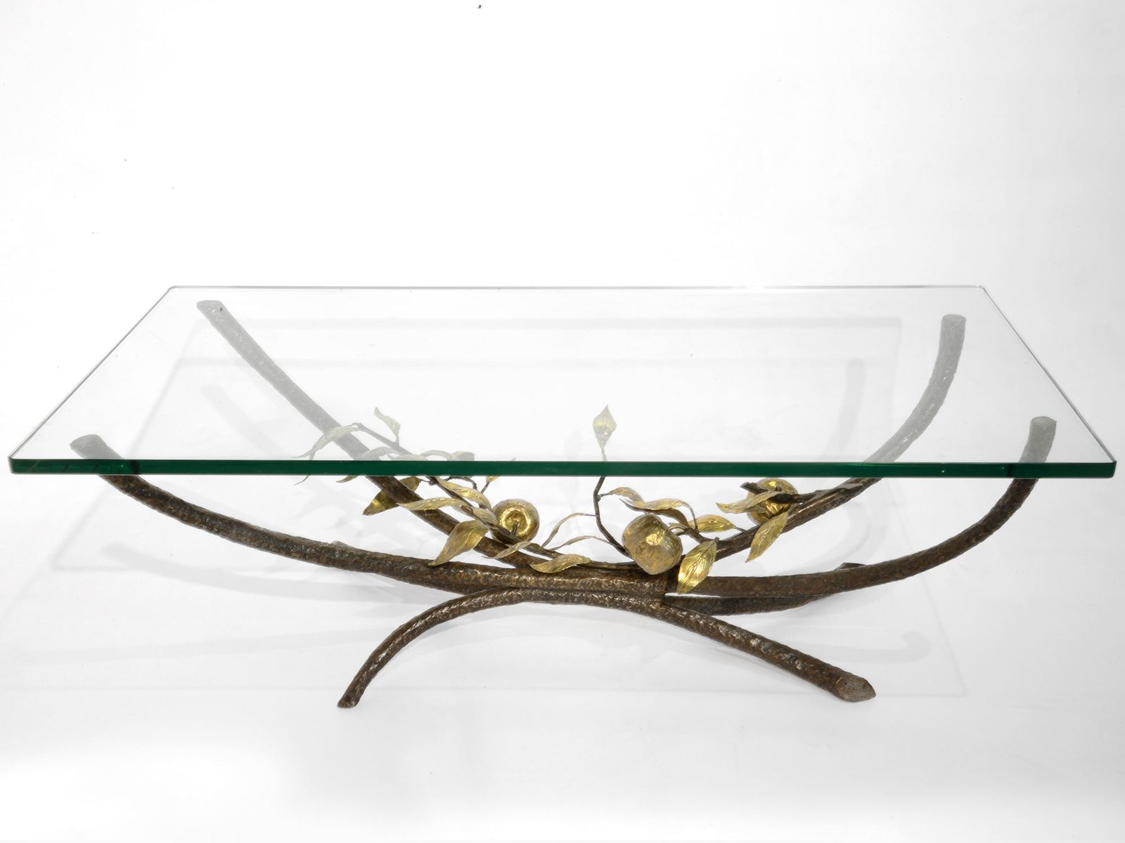 Bronze Coffee Table by Jacques Duval Brasseur 1970s for sale at