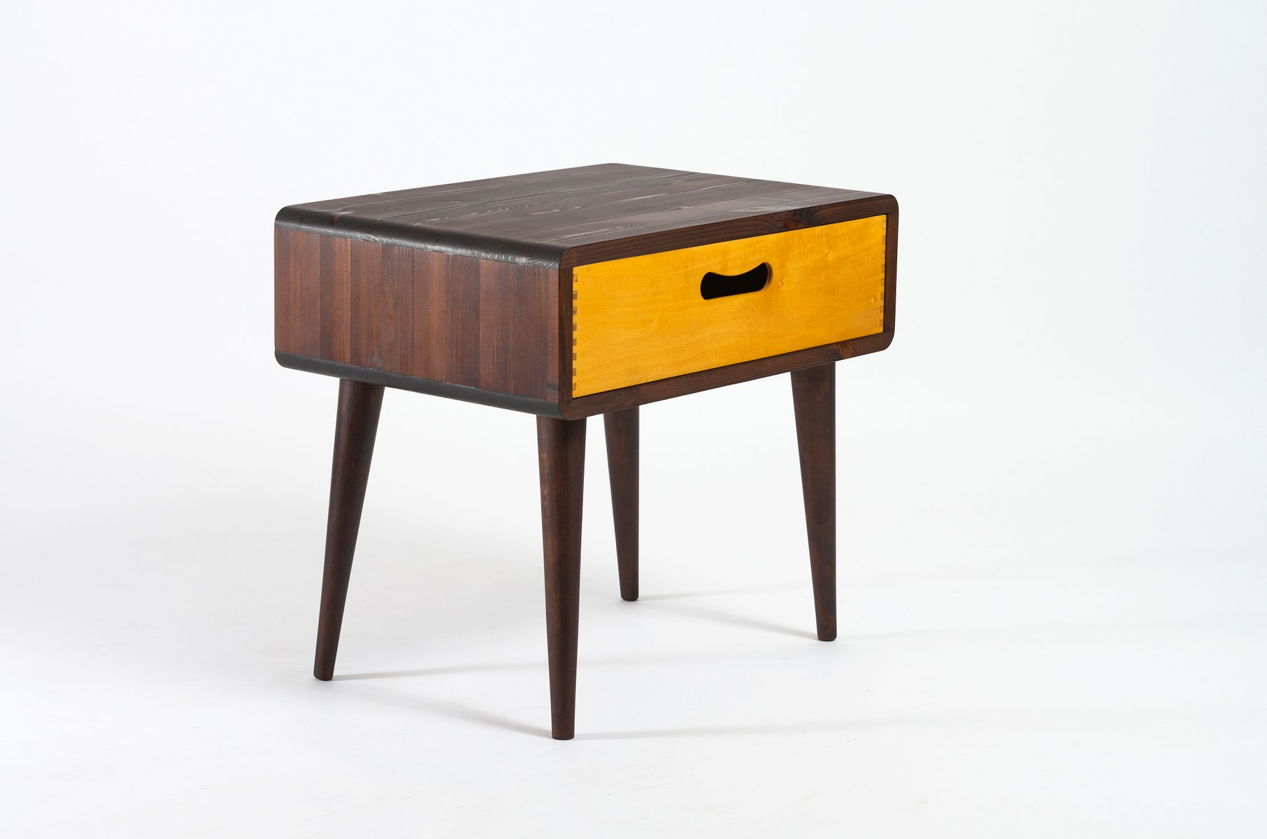 Marvelous Mid Century Side Table With Drawer