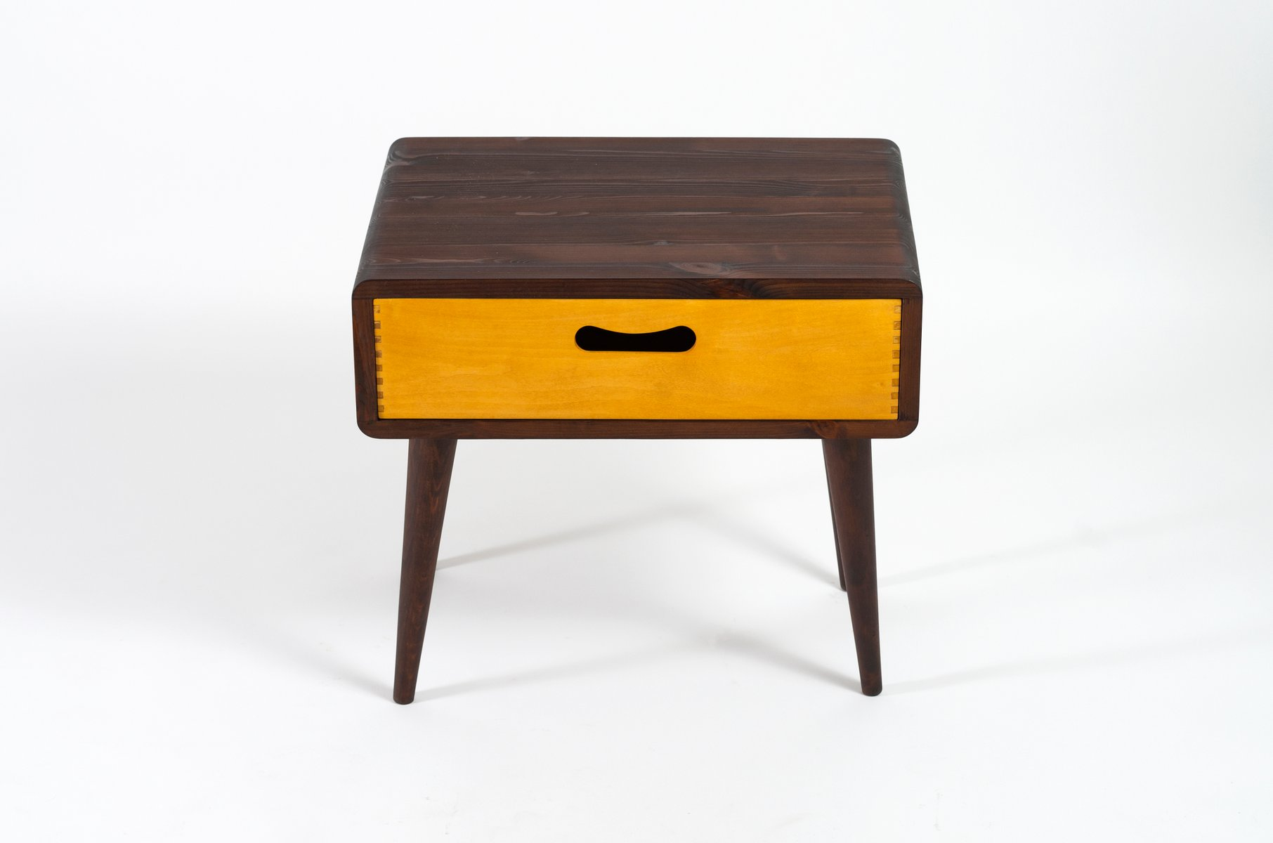 mid century stepped side table west elm uk mid century side