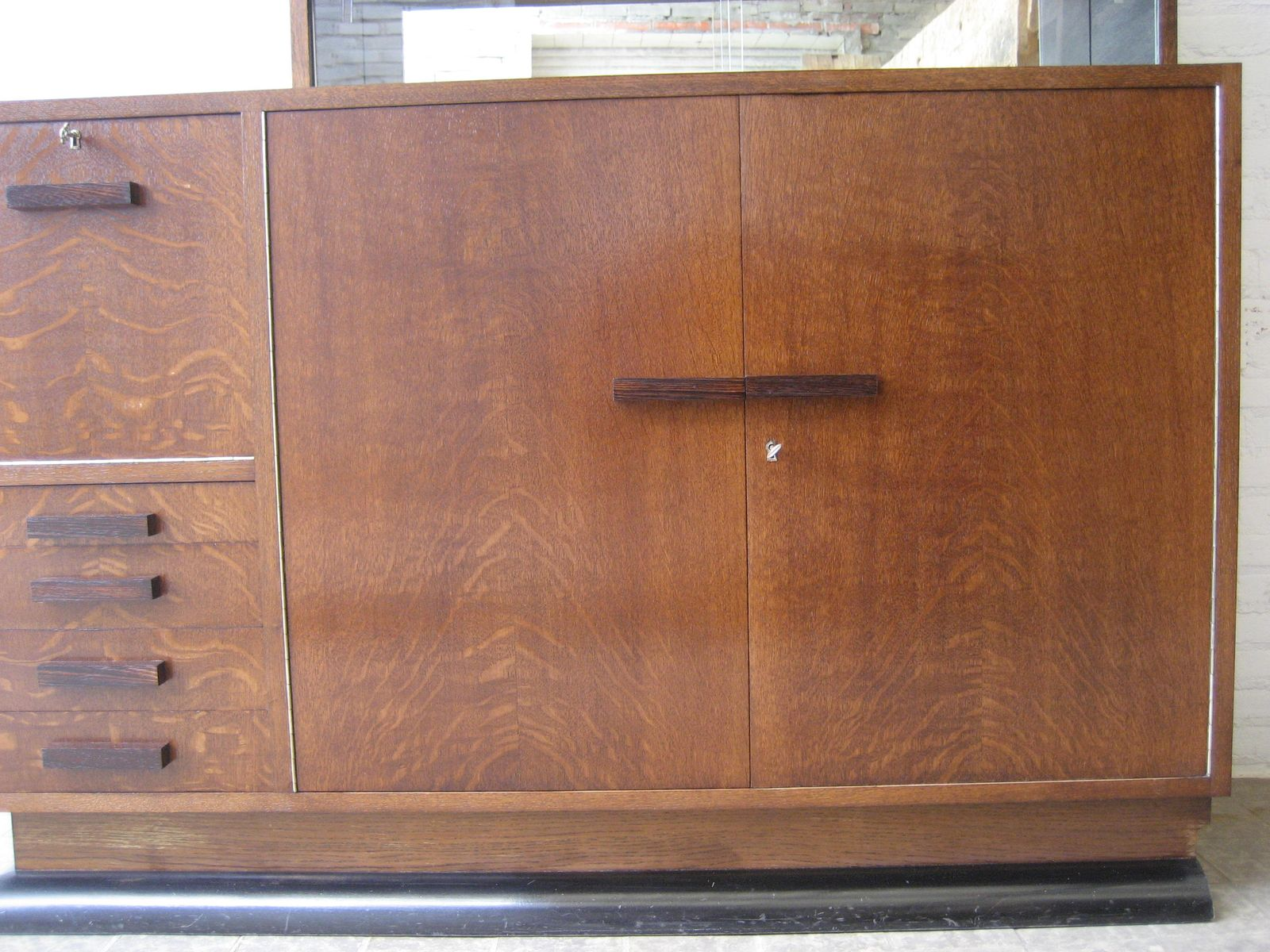 Art deco corner cabinet with sliding glass doors for sale for Sliding glass doors germany