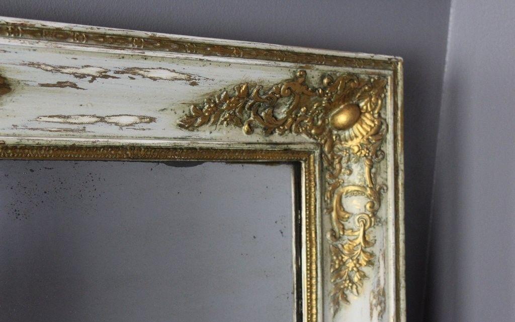 antiker gro er franz sischer spiegel bei pamono kaufen. Black Bedroom Furniture Sets. Home Design Ideas