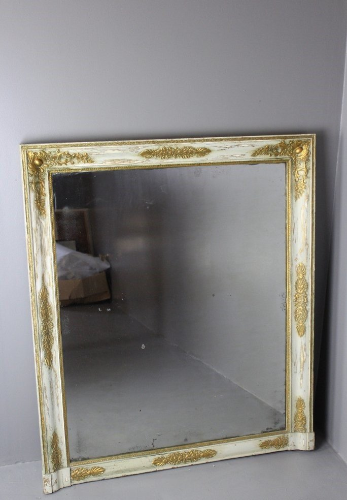 Grand miroir de chemin e antique france en vente sur pamono for Miroir cheminee