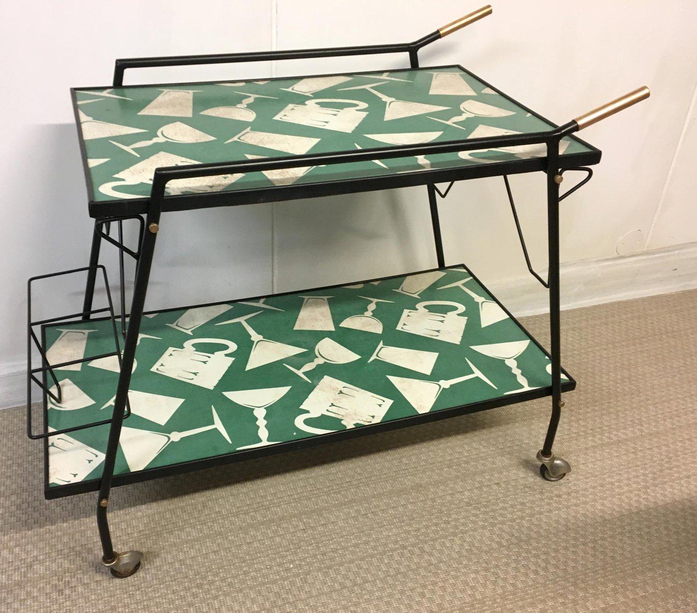 chariot de bar en m tal laiton 1960s en vente sur pamono. Black Bedroom Furniture Sets. Home Design Ideas