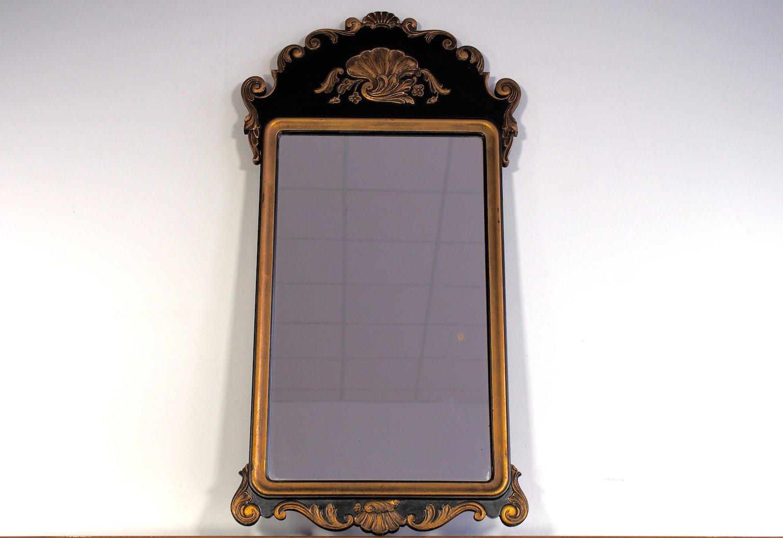 Grand miroir mural antique rococo revival en vente sur pamono for Grand miroir solde