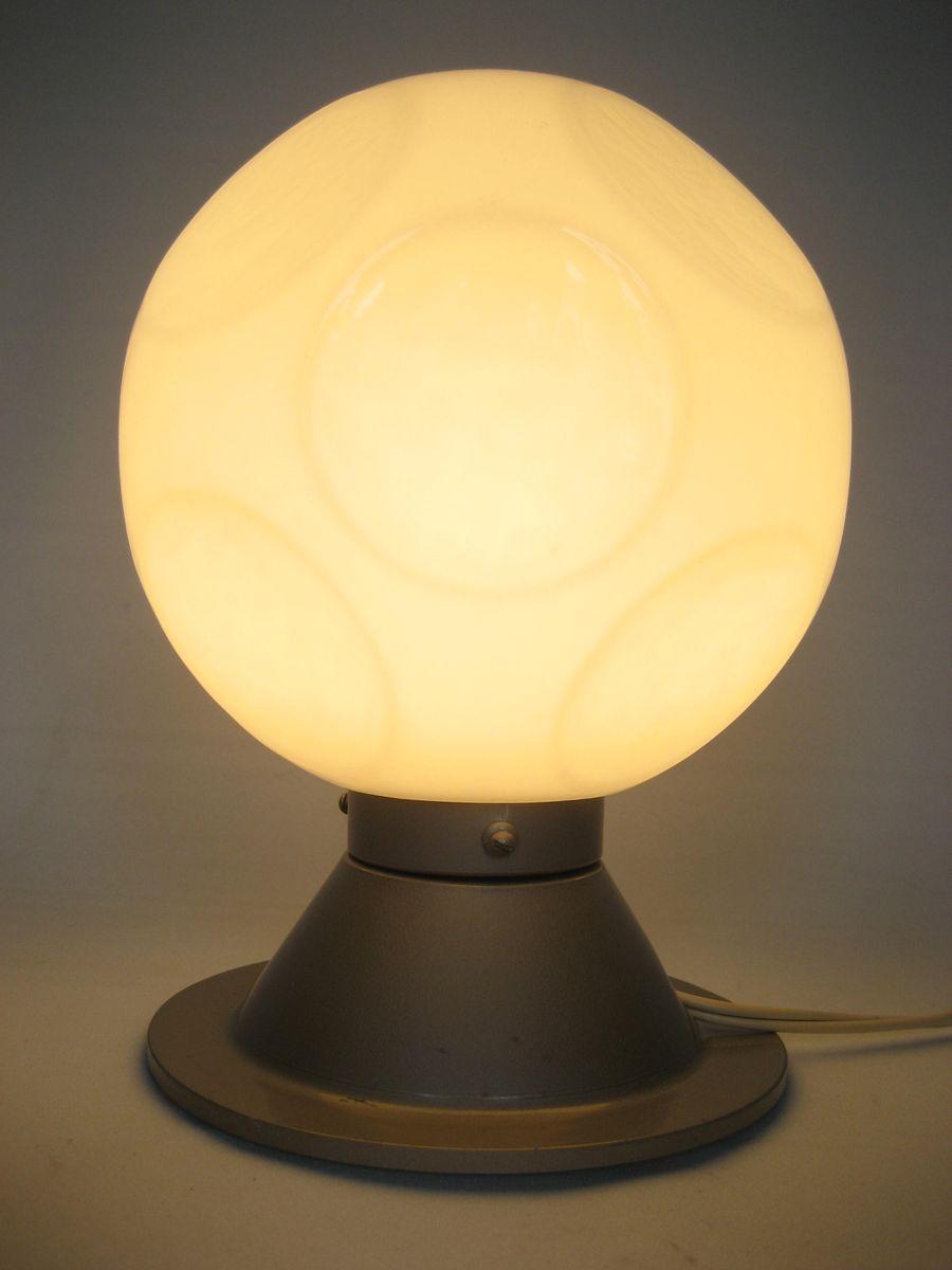 vintage tischlampe mit kugelleuchte aus glas bei pamono kaufen. Black Bedroom Furniture Sets. Home Design Ideas