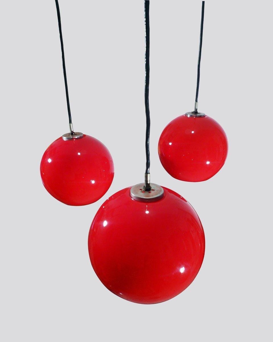 rote opalglas deckenlampe 1960er bei pamono kaufen