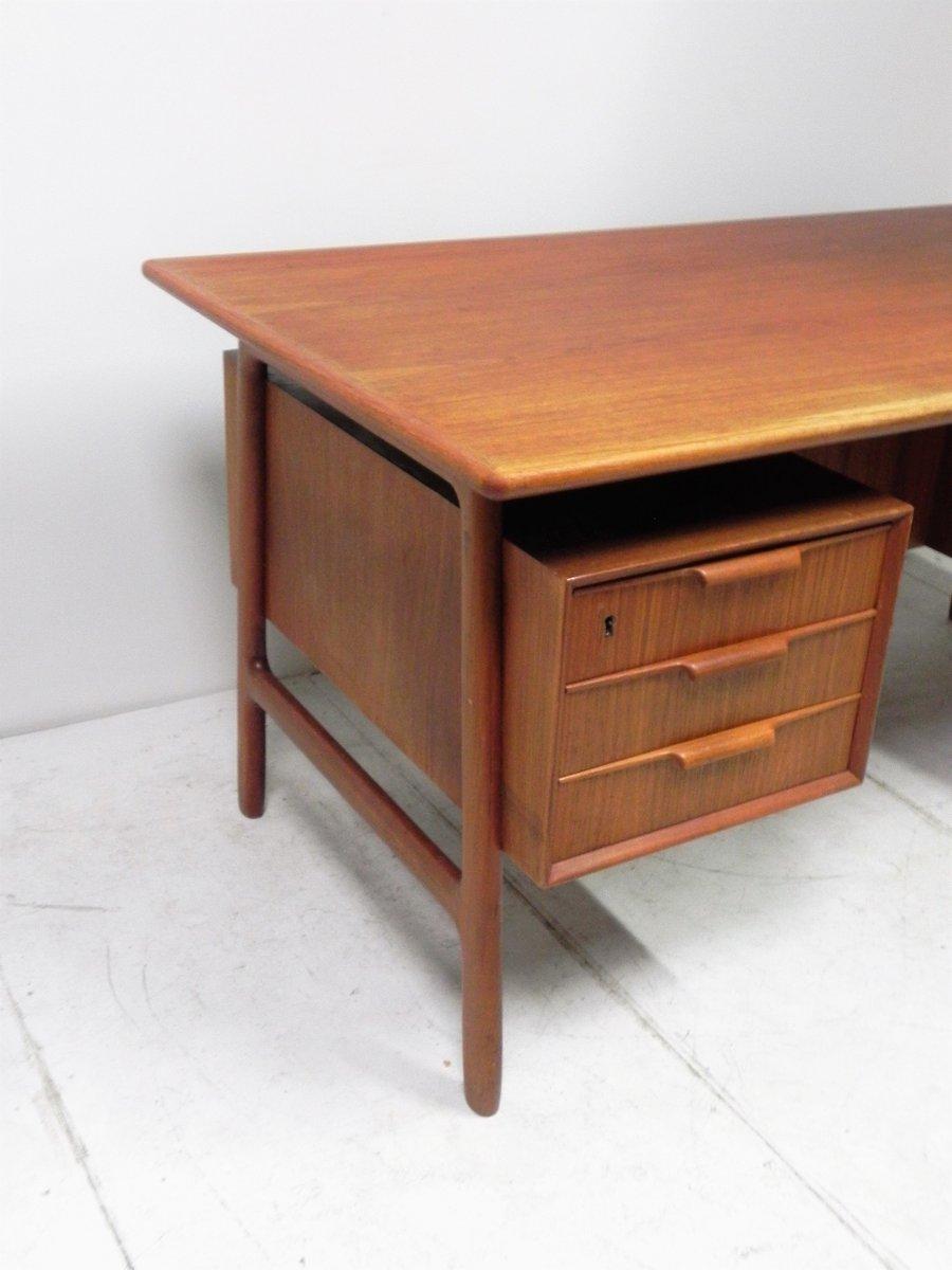 vintage modell 75 teak schreibtisch von gunni omann bei. Black Bedroom Furniture Sets. Home Design Ideas