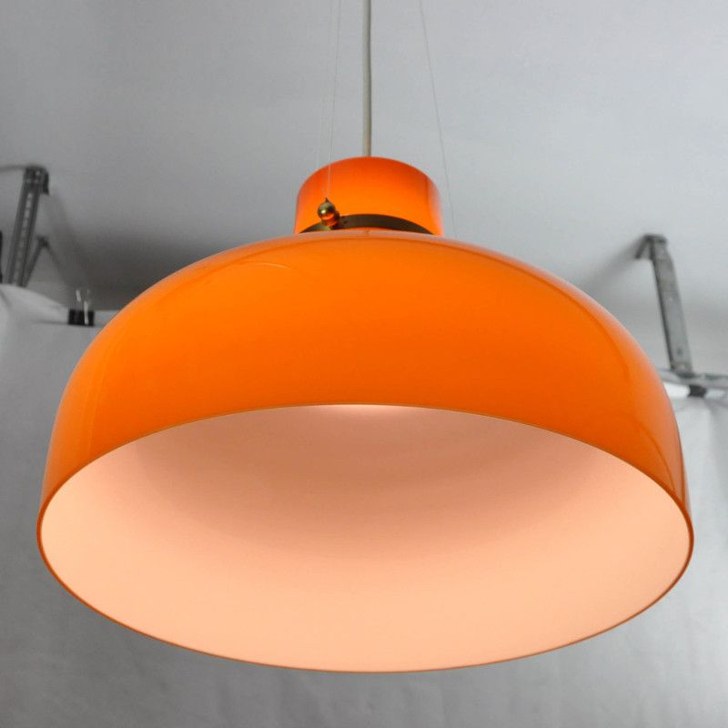 Vintage Danish Pendant in Orange Glass for sale at Pamono