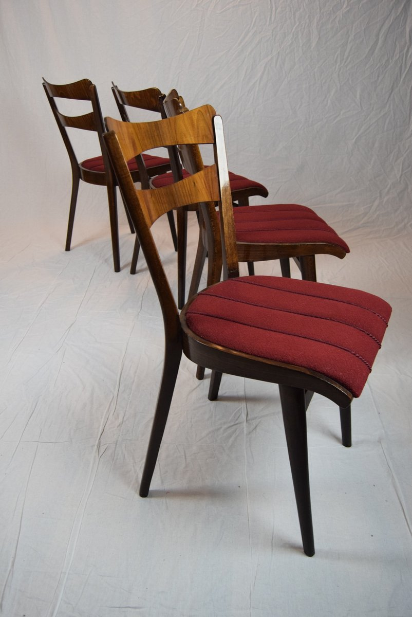 Teak dining table four chairs 1960s for sale at pamono for Four chair dining table