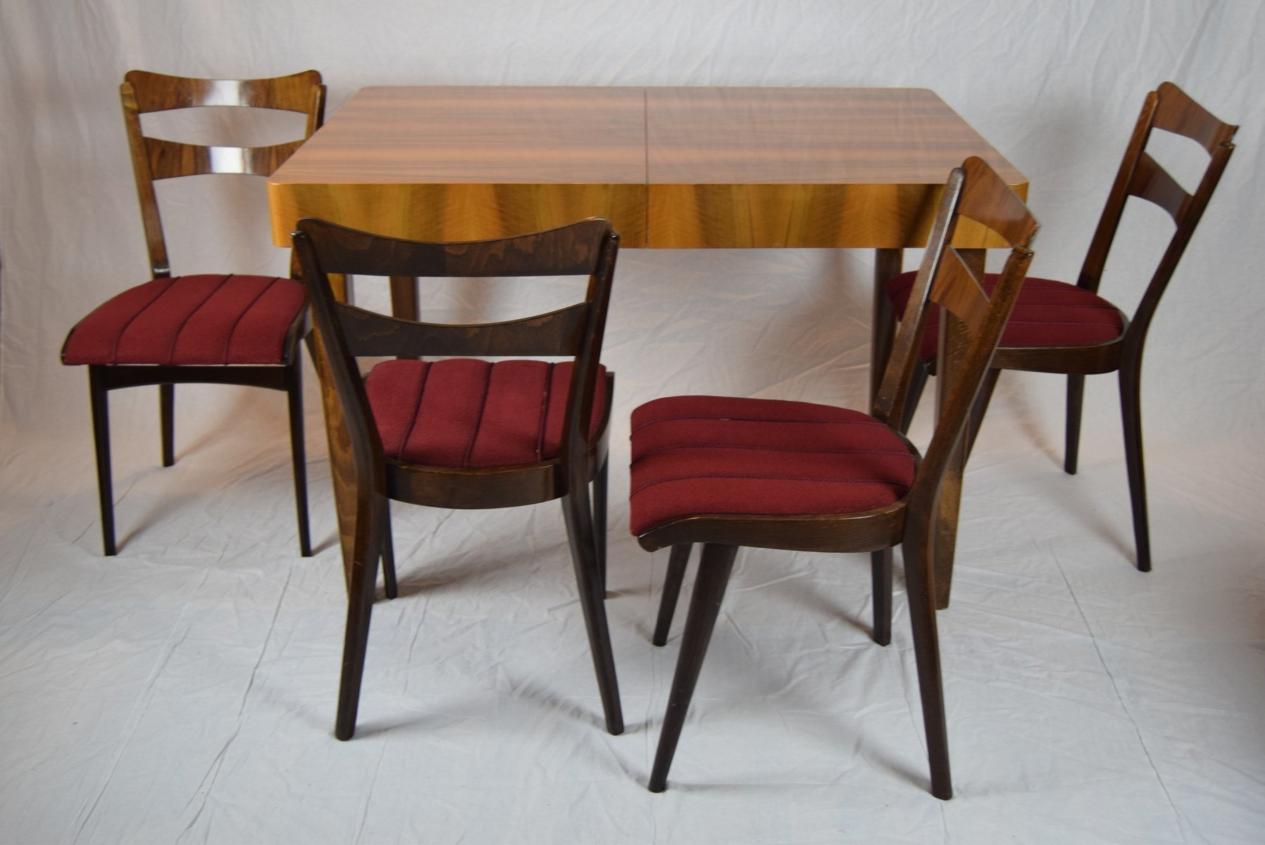 Teak Dining Table Four Chairs 1960s For Sale At Pamono