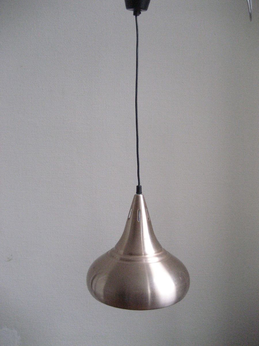 belgische vintage aluminium lampe bei pamono kaufen. Black Bedroom Furniture Sets. Home Design Ideas