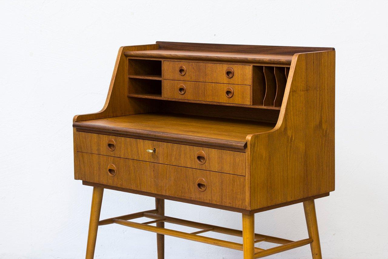 schwedischer teak buchenholz sekret r 1960er bei pamono. Black Bedroom Furniture Sets. Home Design Ideas