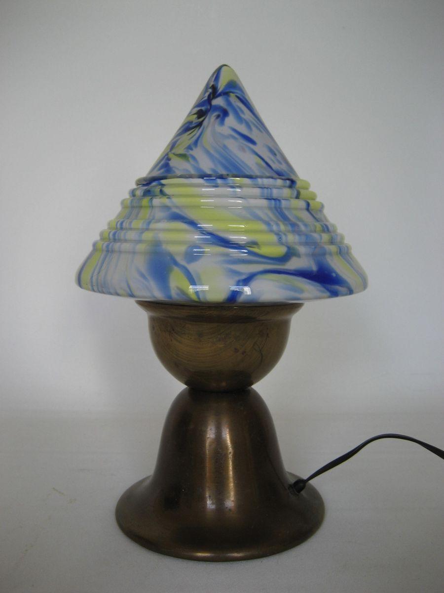 lampe de bureau mushroom art d co 1930s en vente sur pamono. Black Bedroom Furniture Sets. Home Design Ideas