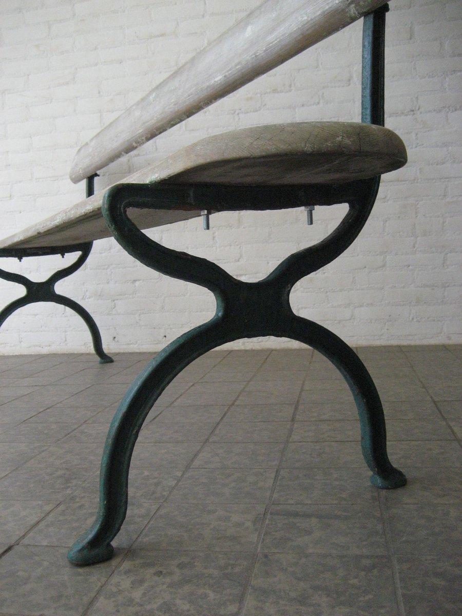 franz sische vintage gartenbank mit gestell aus gusseisen 1930er bei pamono kaufen. Black Bedroom Furniture Sets. Home Design Ideas