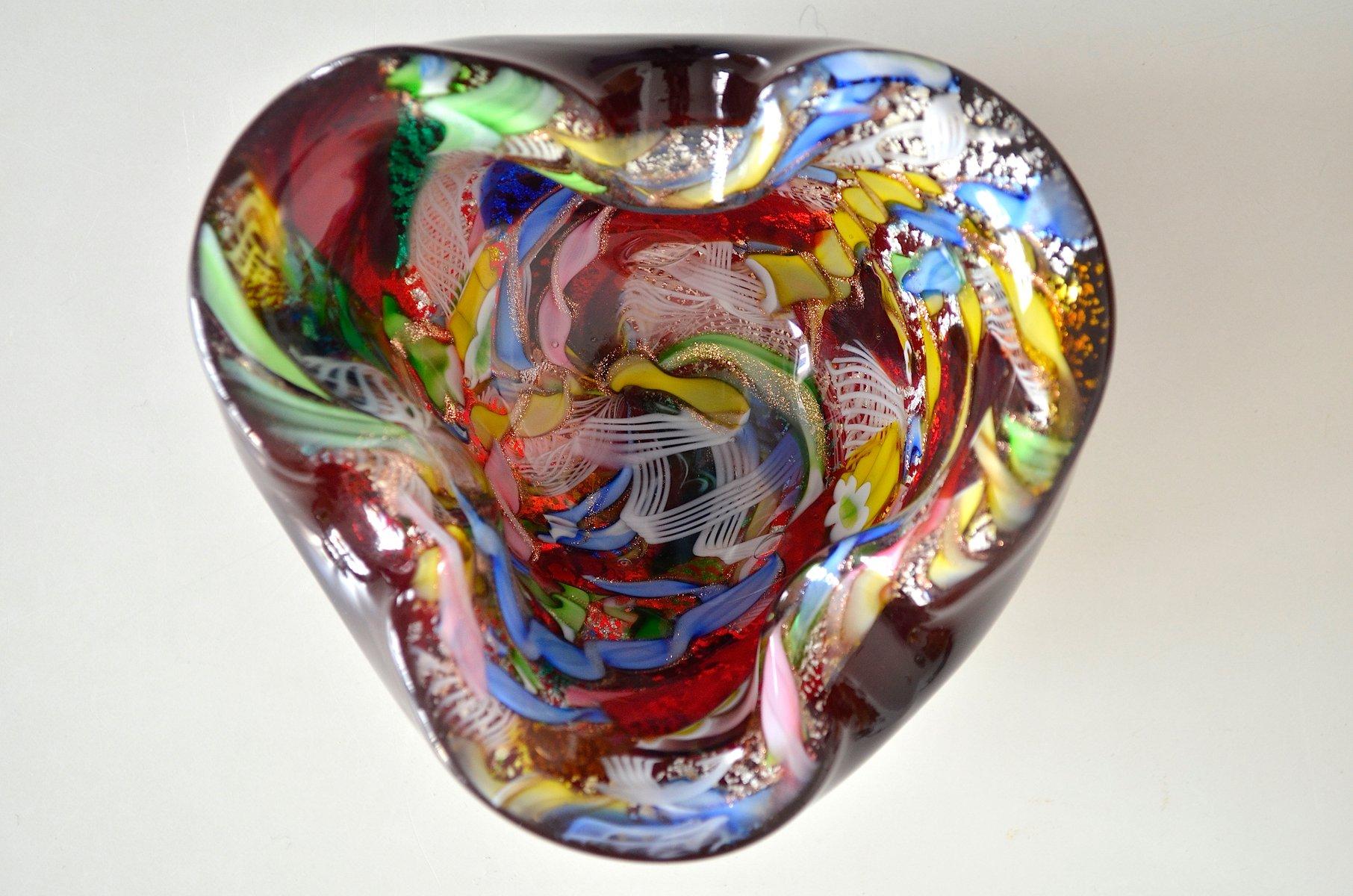 Vintage tutti frutti murano glass bowl from a ve m 1960s - Murano bilder ...