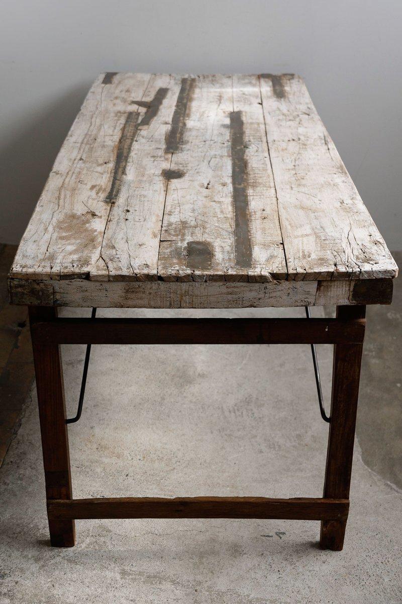 vintage indian teak foldable dining table 1950s for sale. Black Bedroom Furniture Sets. Home Design Ideas