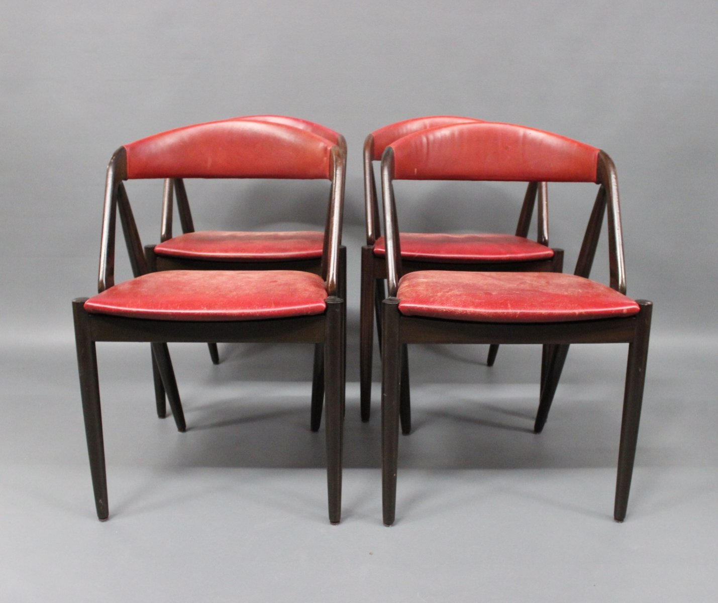 4 Dining Room Chairs For Sale: Vintage Model 31 Dining Room Chairs By Kai Kristiansen For
