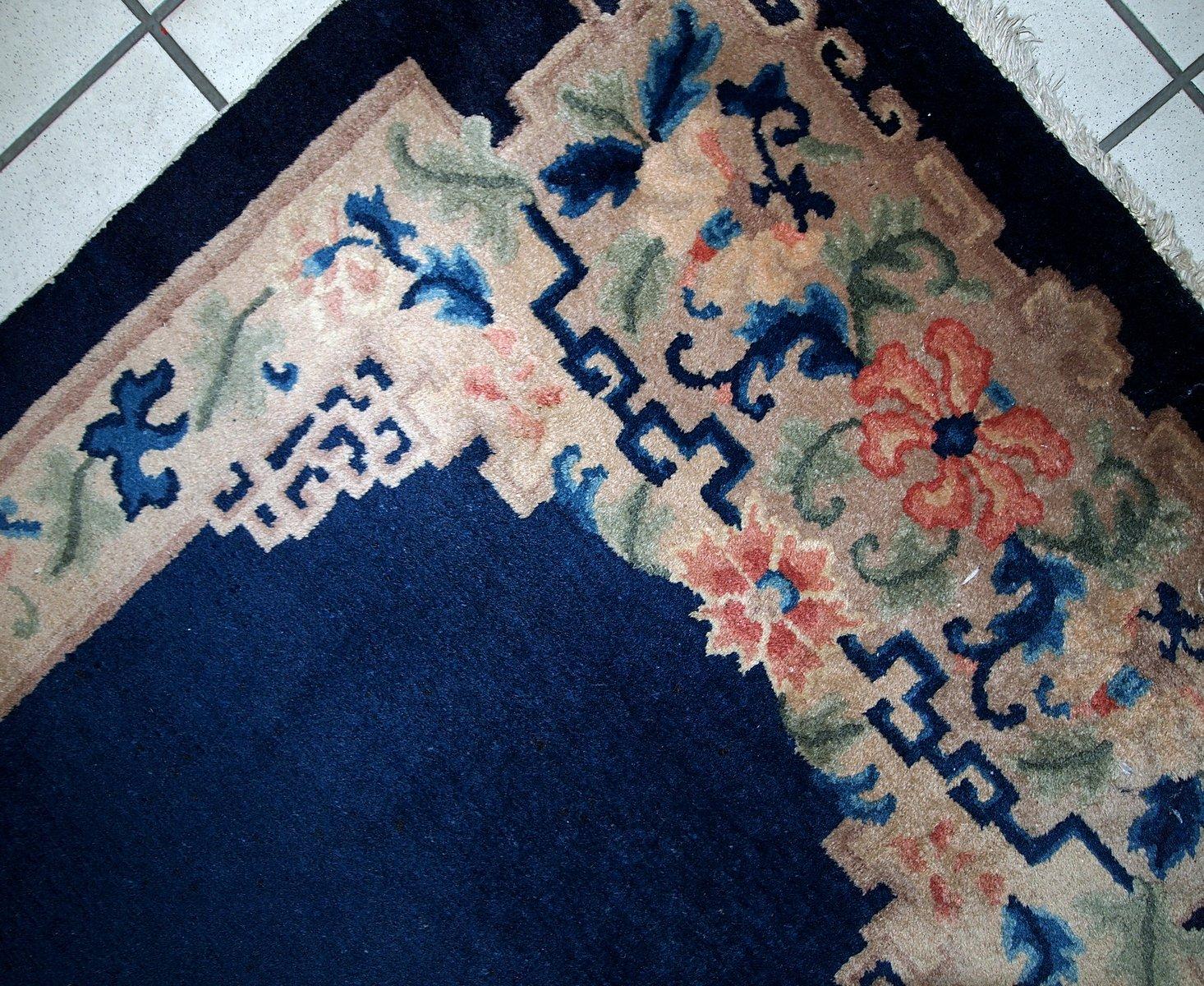 Handgeknüpfter Chinesischer Art Deco Teppich, 1920er bei