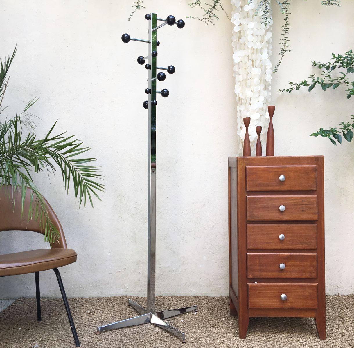 verchromter vintage garderobenst nder mit acht haken bei pamono kaufen. Black Bedroom Furniture Sets. Home Design Ideas