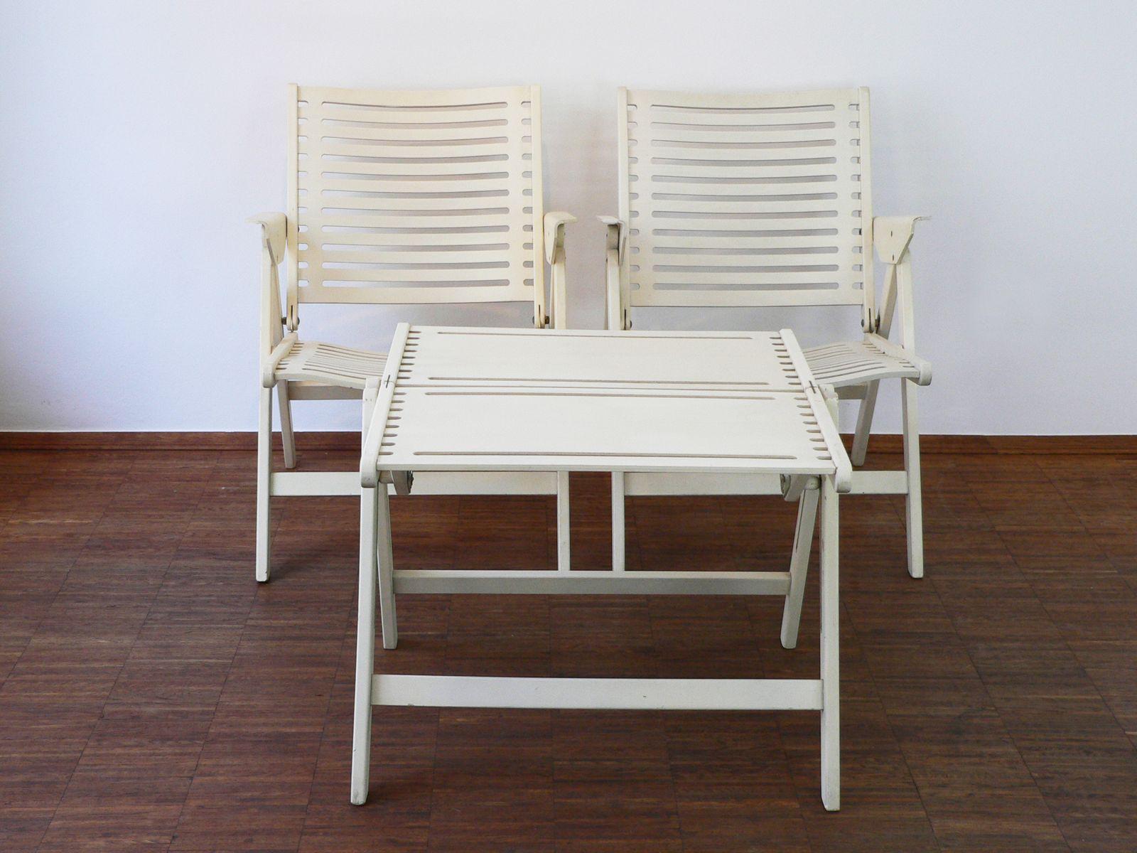 rex tisch mit zwei st hlen von niko kralj 1950er bei pamono kaufen. Black Bedroom Furniture Sets. Home Design Ideas