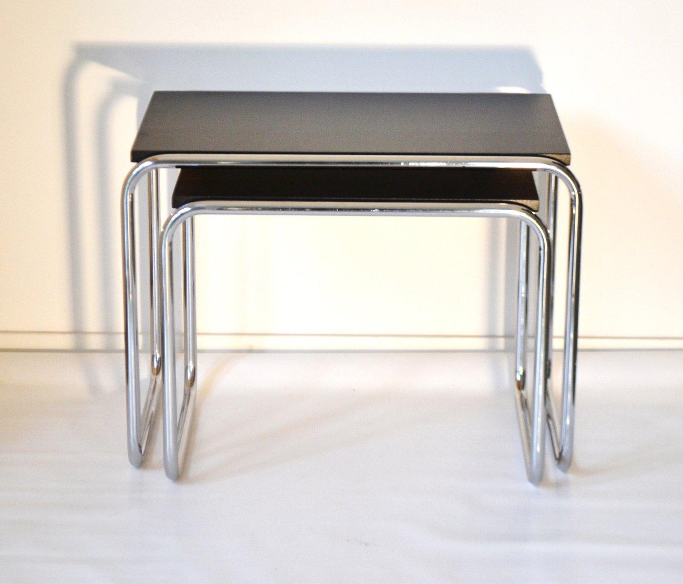 bauhaus satztische 2er set bei pamono kaufen. Black Bedroom Furniture Sets. Home Design Ideas
