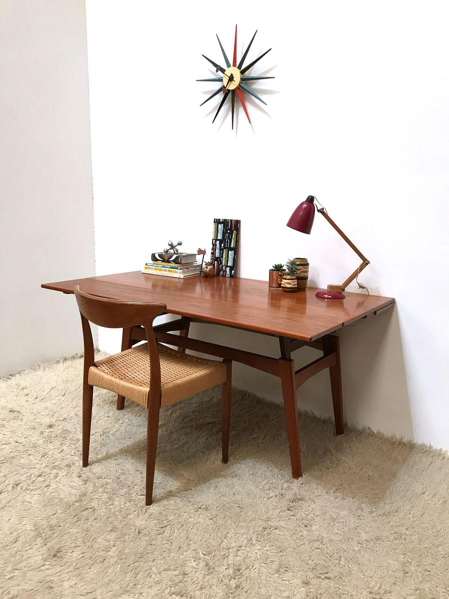 Table de salle manger ou table basse metamorphic en teck for Salle a manger 1960
