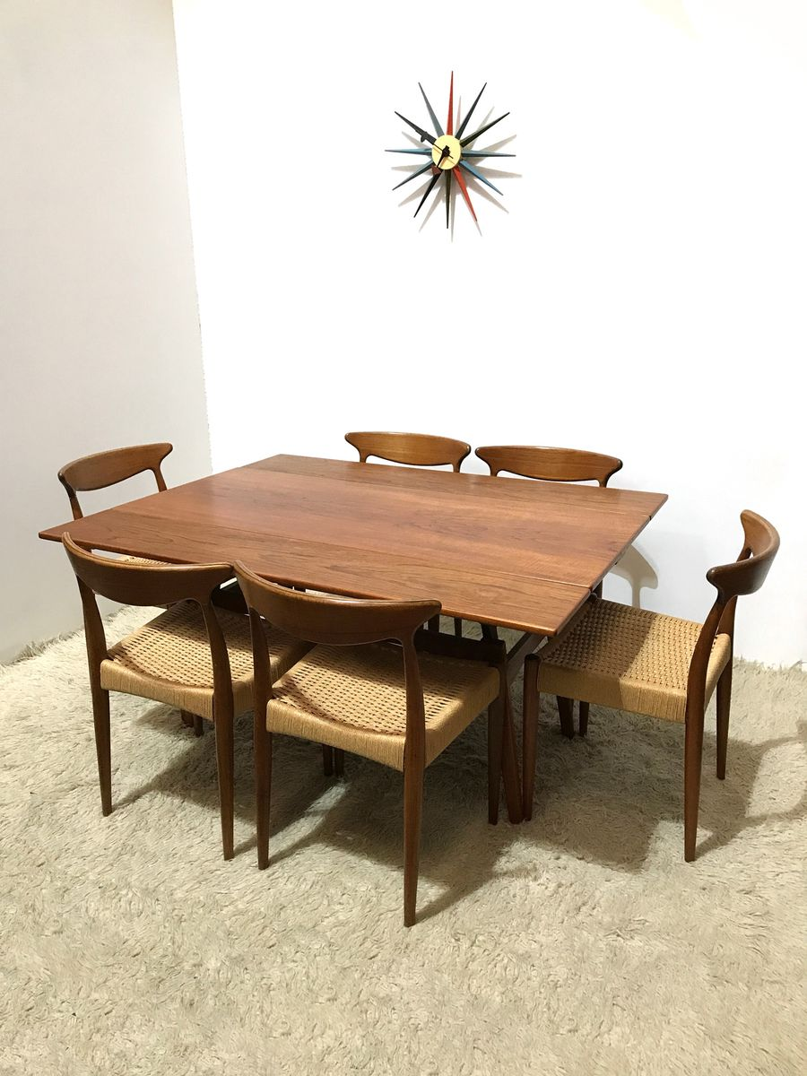 Danish Metamorphic Teak Coffee Or Dining Table From Trioh M Bler 1960s For Sale At Pamono