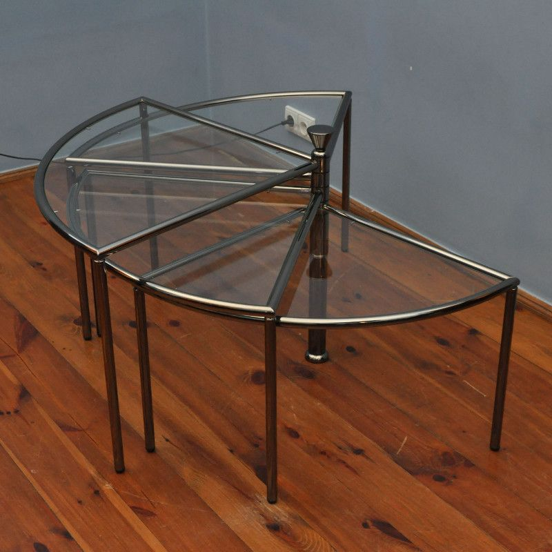Vintage Glass Side Table ~ Vintage glass side table s for sale at pamono