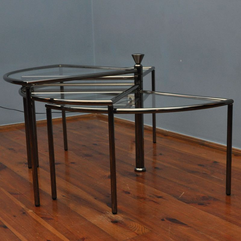 table d 39 appoint vintage en verre 1970s en vente sur pamono. Black Bedroom Furniture Sets. Home Design Ideas