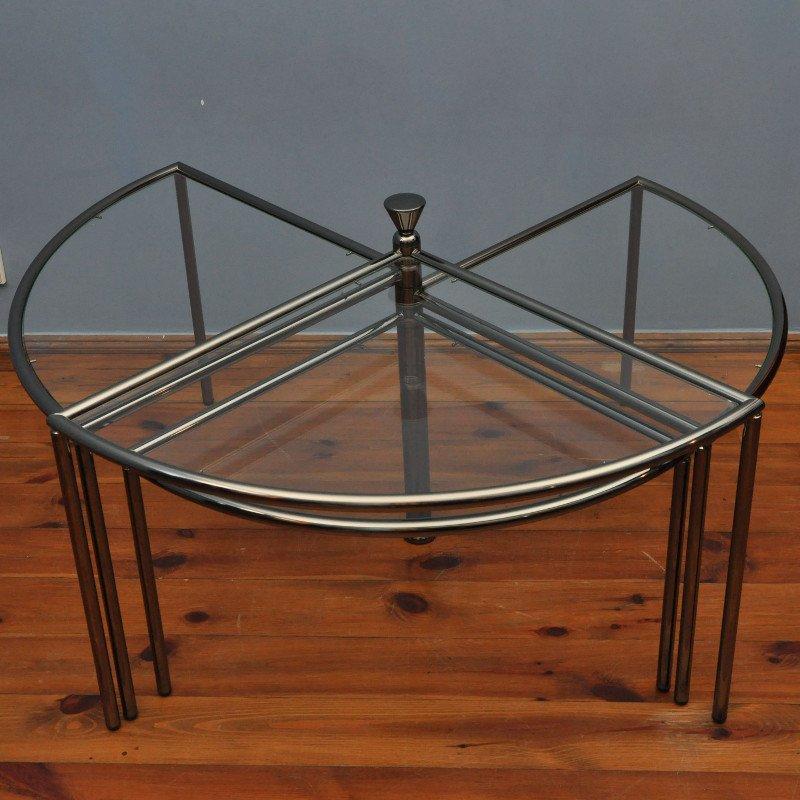 table d 39 appoint vintage en verre 1970s en vente sur pamono. Black Bedroom Furniture Sets. Home Design Ideas