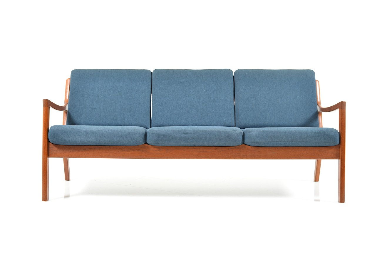 senator drei sitzer sofa aus teak von ole wanscher f r france s n 1960er bei pamono kaufen. Black Bedroom Furniture Sets. Home Design Ideas
