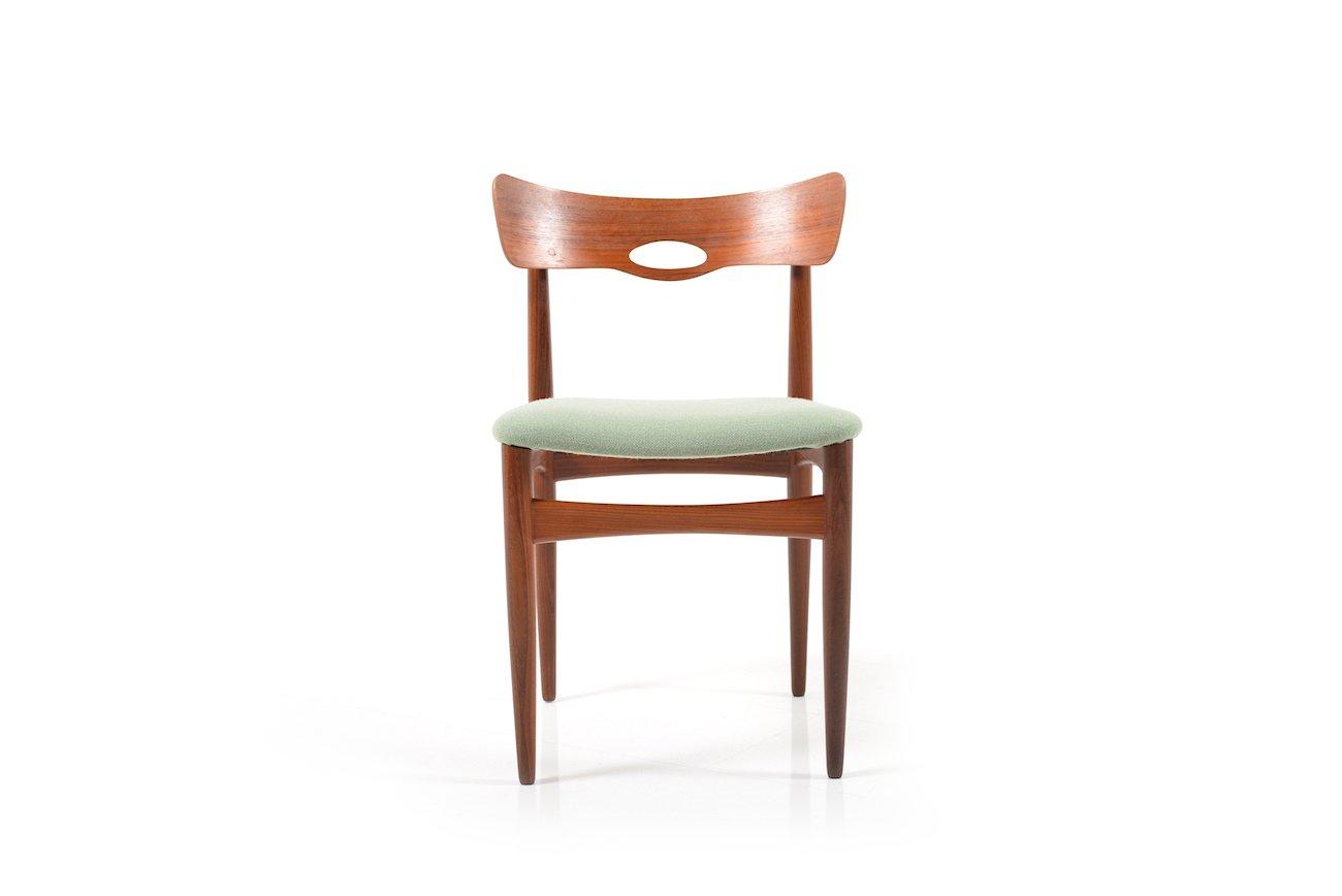 d nische st hle aus teak von bramin 1960er 2er set bei pamono kaufen. Black Bedroom Furniture Sets. Home Design Ideas