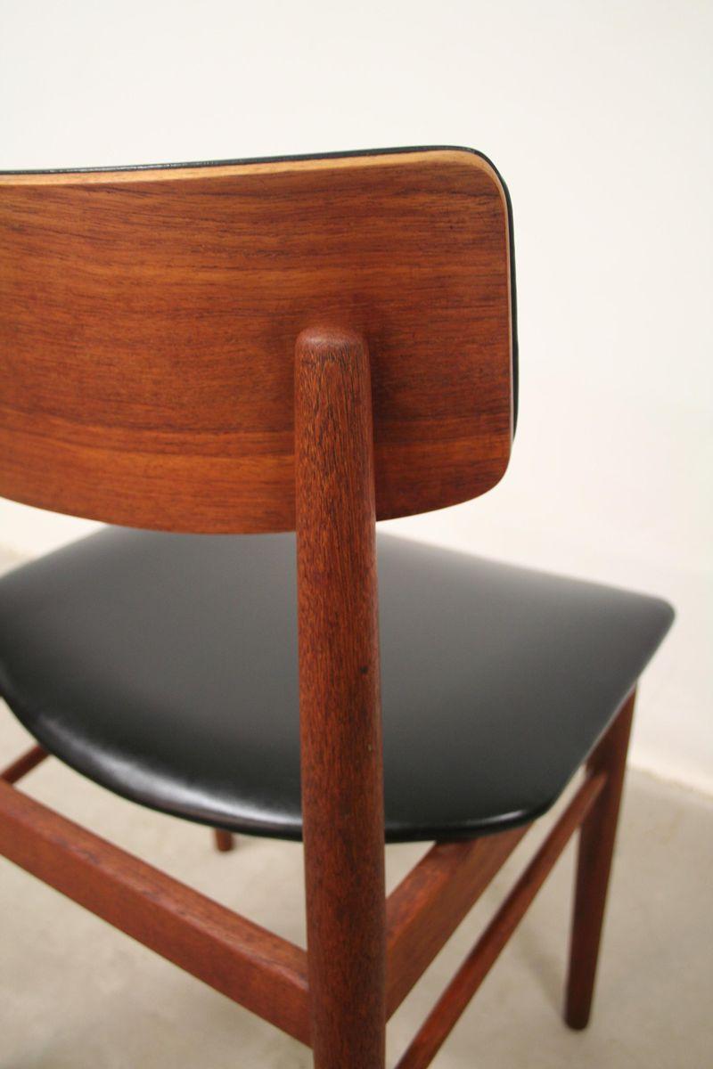 chaises de salle manger en teck de s chrobat pour sax mobler 1960s set de 4 en vente sur pamono. Black Bedroom Furniture Sets. Home Design Ideas