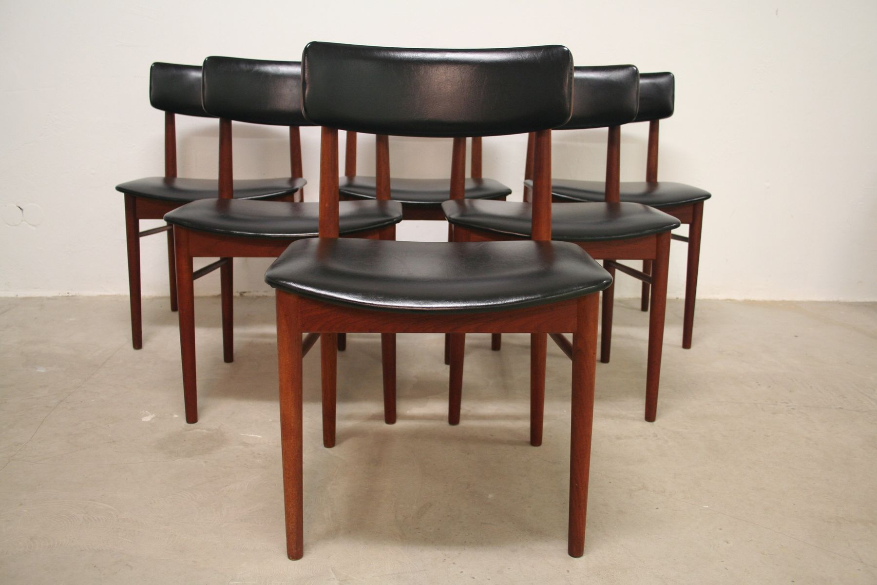 Teak Dining Chairs by S Chrobat for Sax Mobler 1960s Set of 4