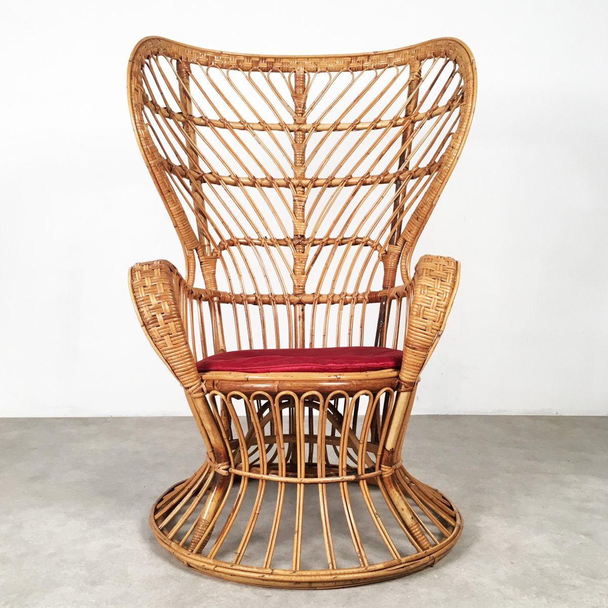 rattan lounge chair 1950s for sale at pamono. Black Bedroom Furniture Sets. Home Design Ideas