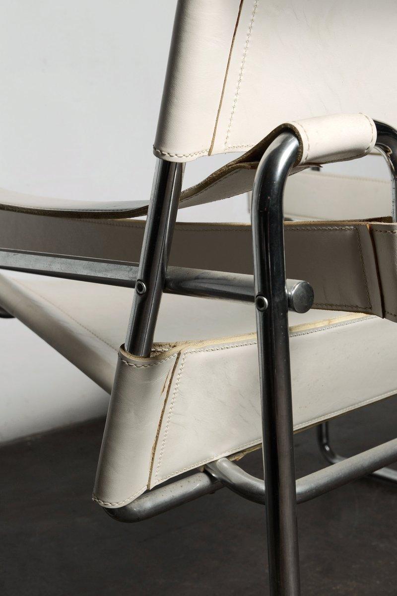 wei er vintage wassily sessel von marcel breuer bei pamono. Black Bedroom Furniture Sets. Home Design Ideas