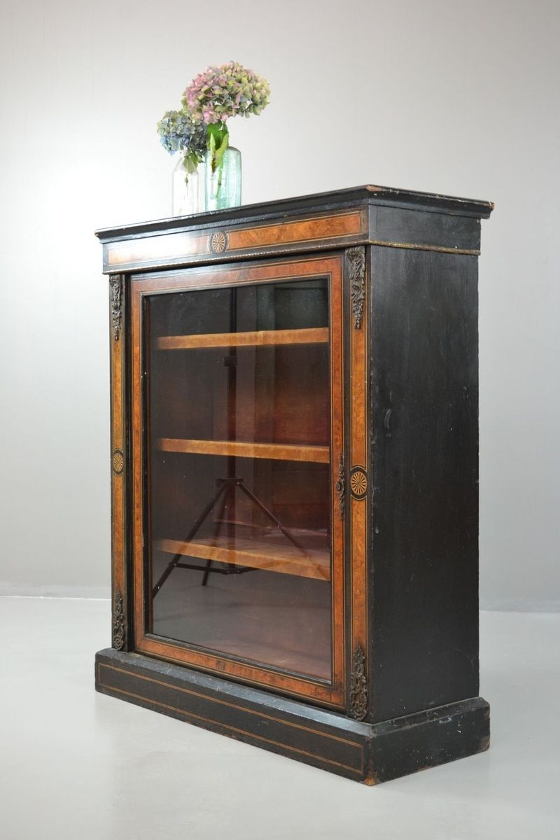 meuble de rangement victorien vitrines noirci antique en vente sur pamono. Black Bedroom Furniture Sets. Home Design Ideas