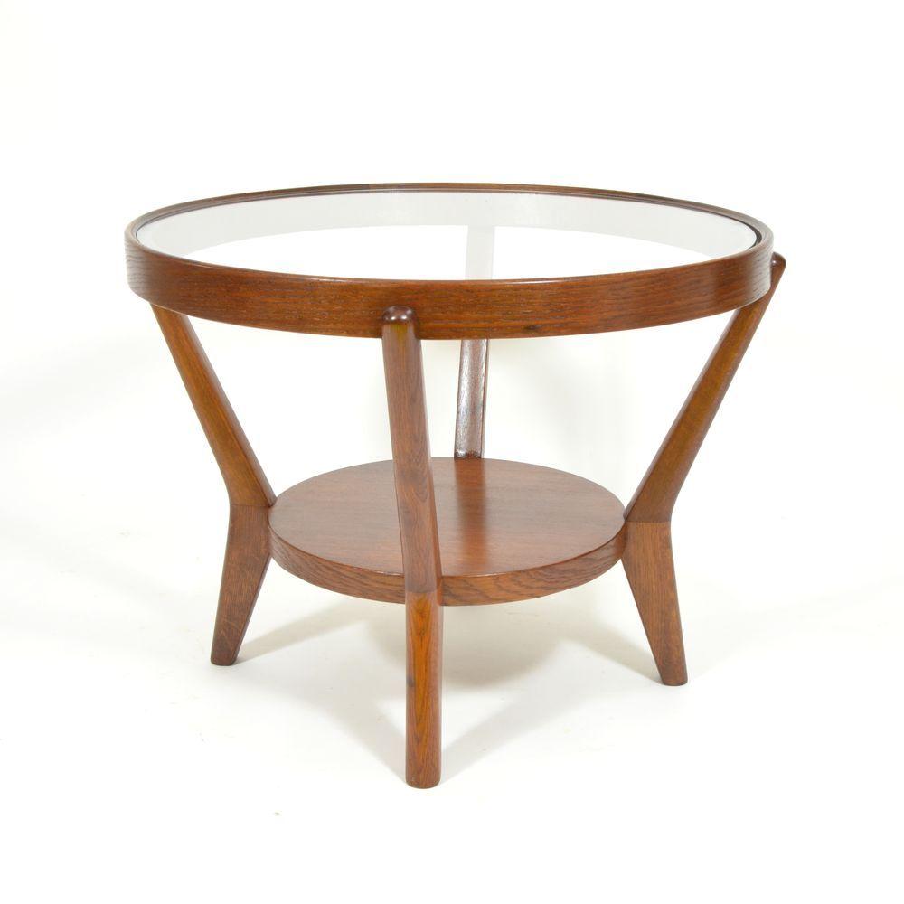 Round Coffee Table By Karel Ko Elka Anton N Krop Ek For Esk Um Leck D Lny 1950s For Sale