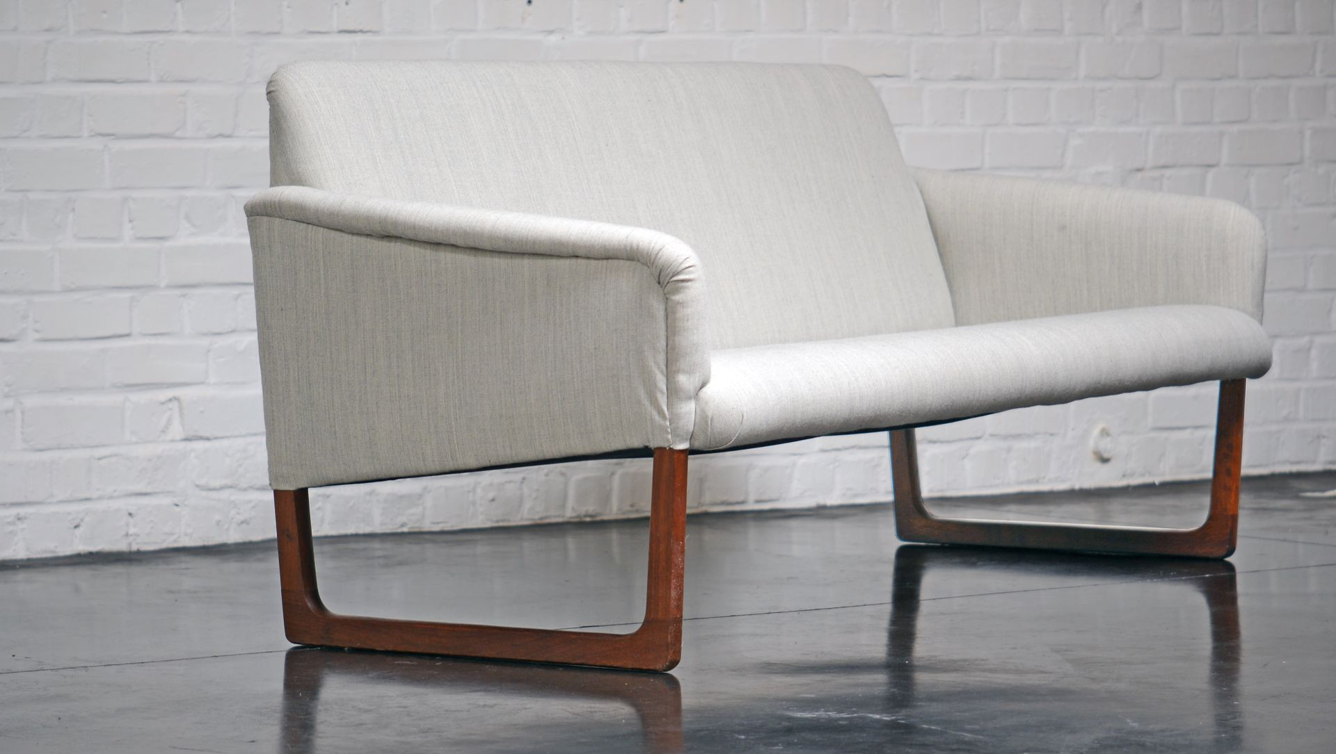 Danish Sofa In Gray Wool And Rosewood 1960s For Sale At Pamono