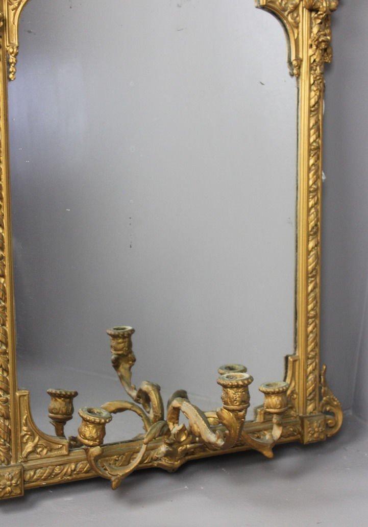 verzierter vergoldeter antiker spiegel bei pamono kaufen. Black Bedroom Furniture Sets. Home Design Ideas
