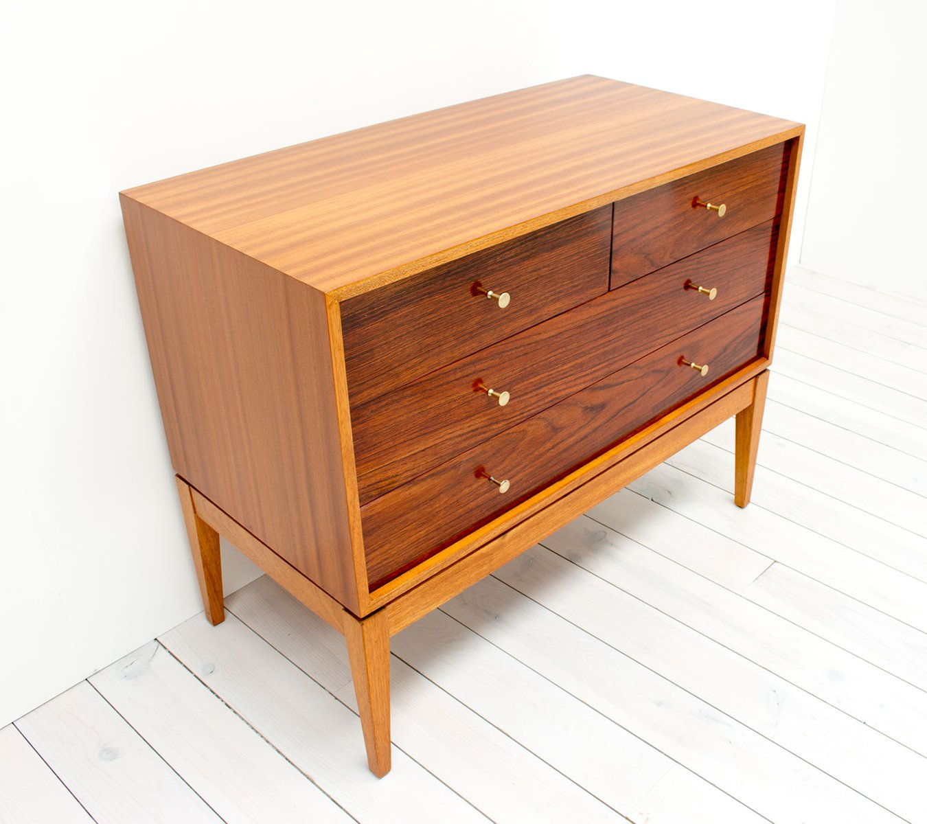 Vintage Teak And Rosewood Chest Of Drawers By Peter