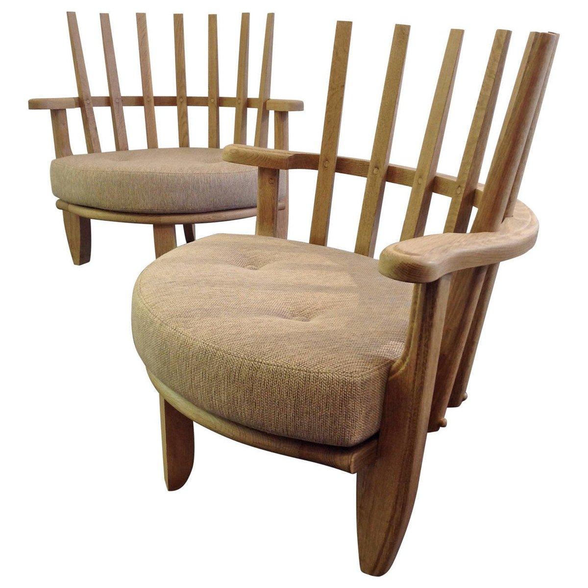 mid century sessel von guillerme et chambron 1960er 2er. Black Bedroom Furniture Sets. Home Design Ideas
