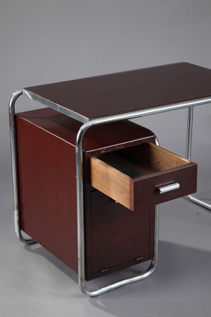 bauhaus schreibtisch von marcel breuer f r thonet 1930er bei pamono kaufen. Black Bedroom Furniture Sets. Home Design Ideas