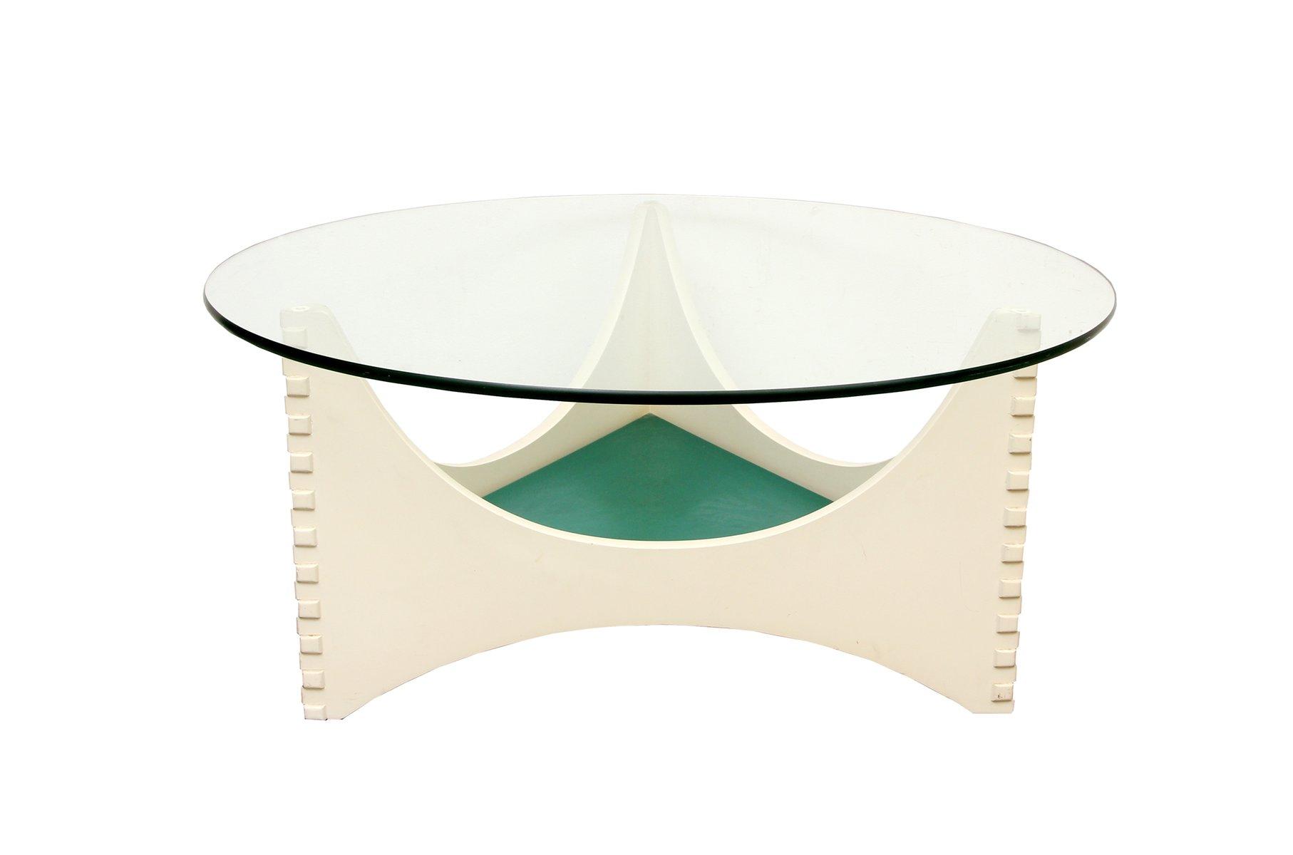 wei er vintage couchtisch mit glasplatte bei pamono kaufen. Black Bedroom Furniture Sets. Home Design Ideas