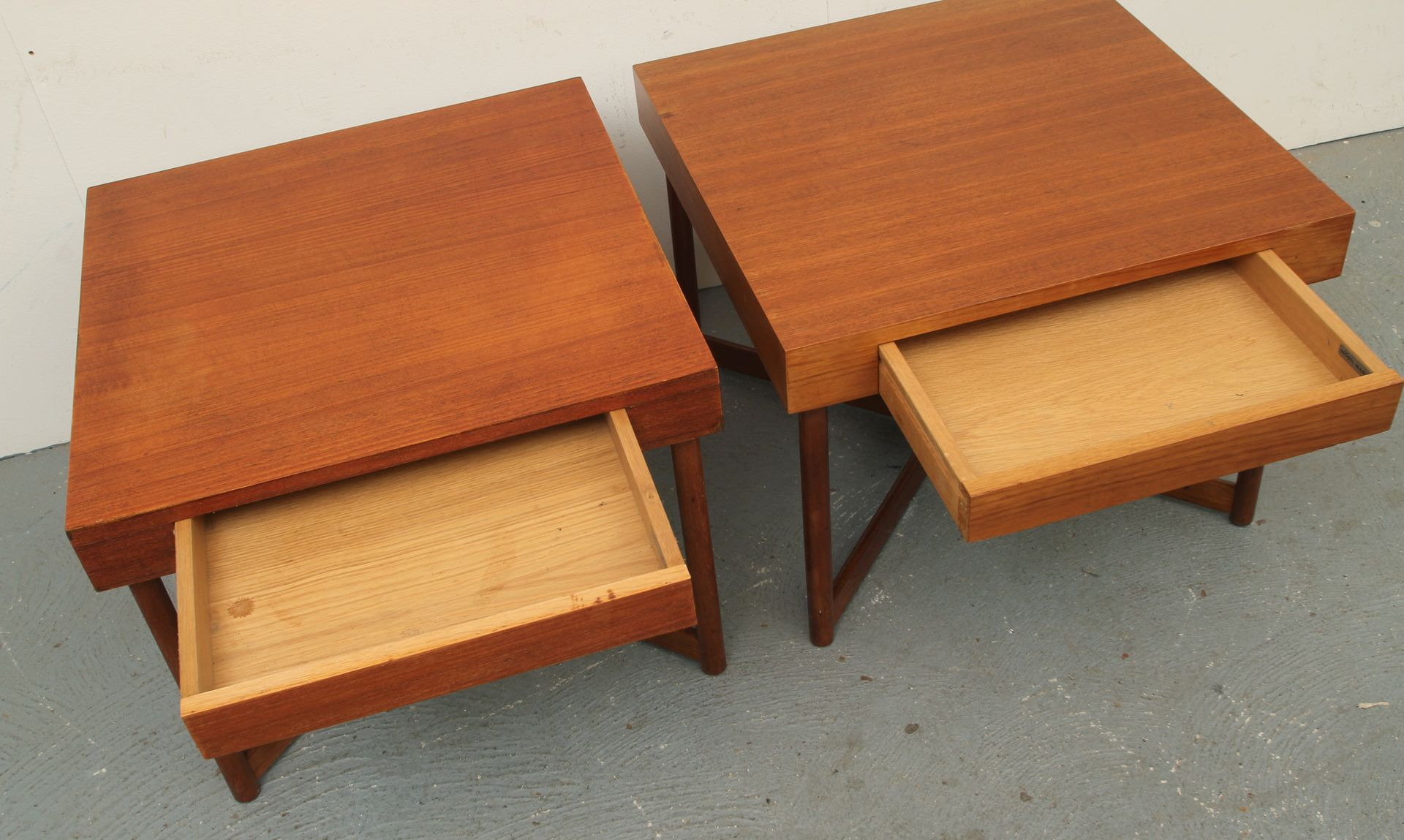 Danish Teak Square Coffee Tables 1960s Set Of 2 For Sale At Pamono