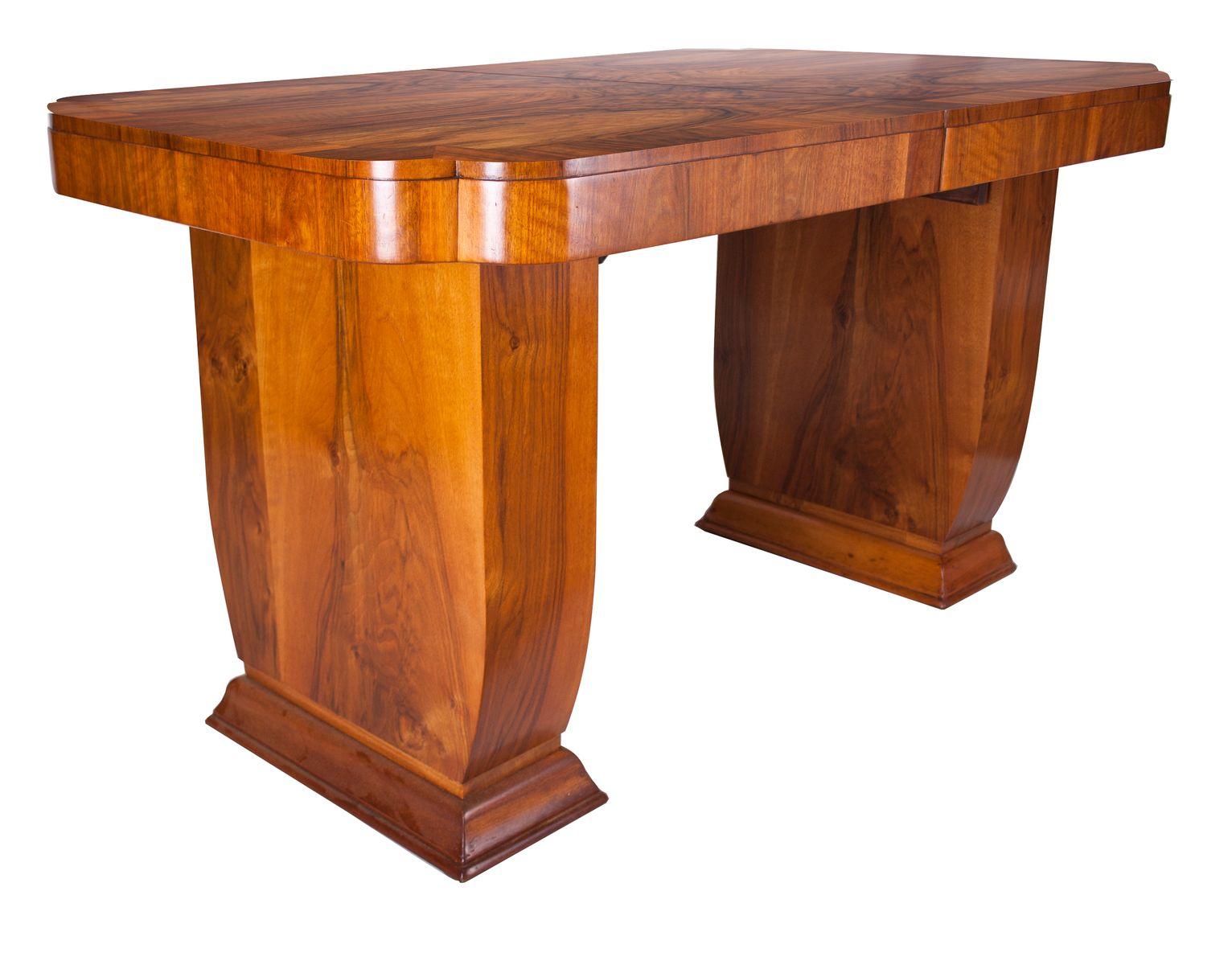 art deco nussholz esstisch 1930er bei pamono kaufen. Black Bedroom Furniture Sets. Home Design Ideas