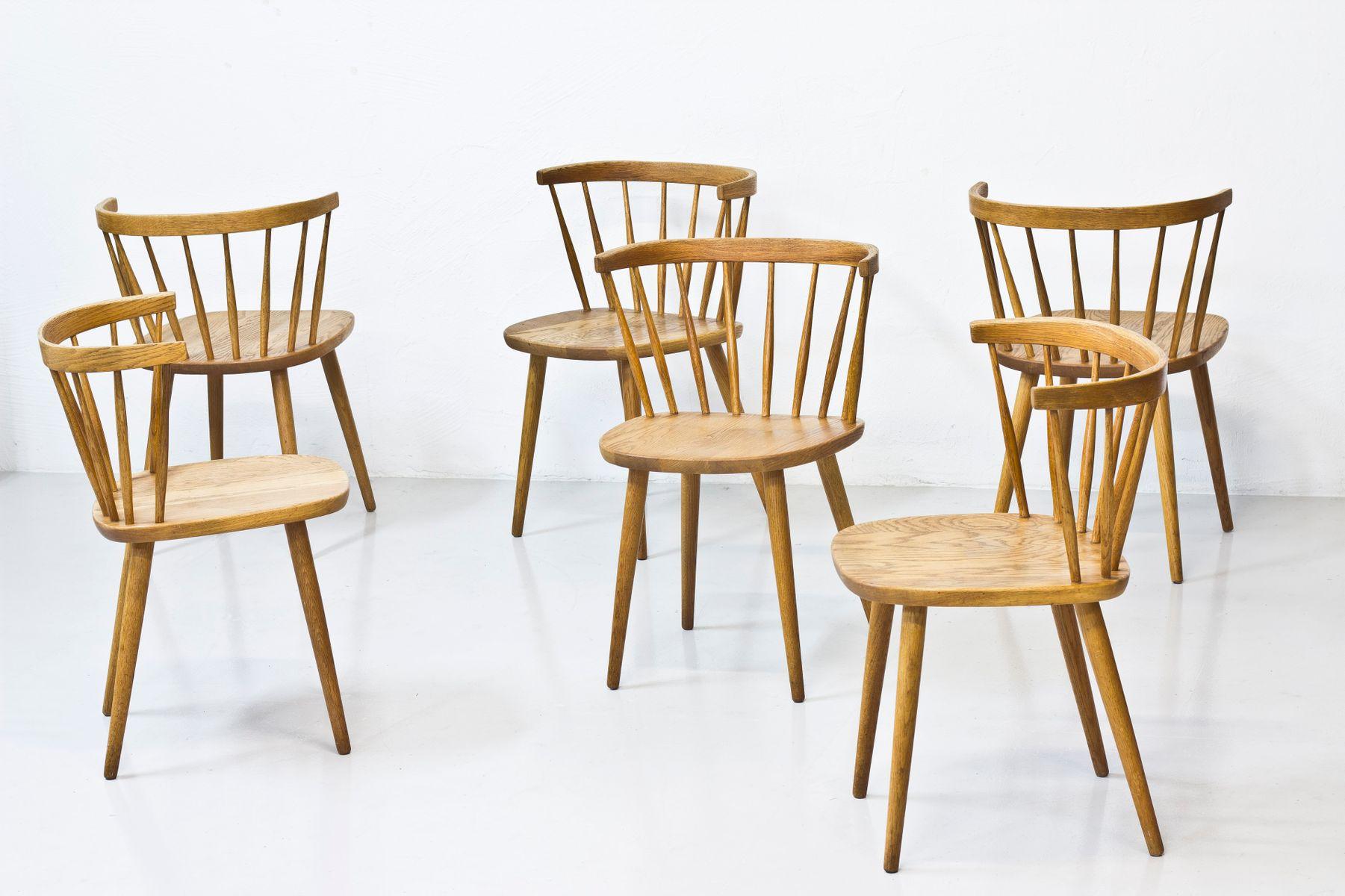 Bobino Stühle von Yngve Ekström für Stolab, 1950er, 6er Set bei Pamono ka