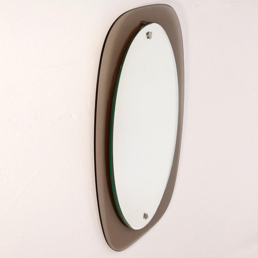 italienischer spiegel mit rauchglas rahmen 1970er bei. Black Bedroom Furniture Sets. Home Design Ideas