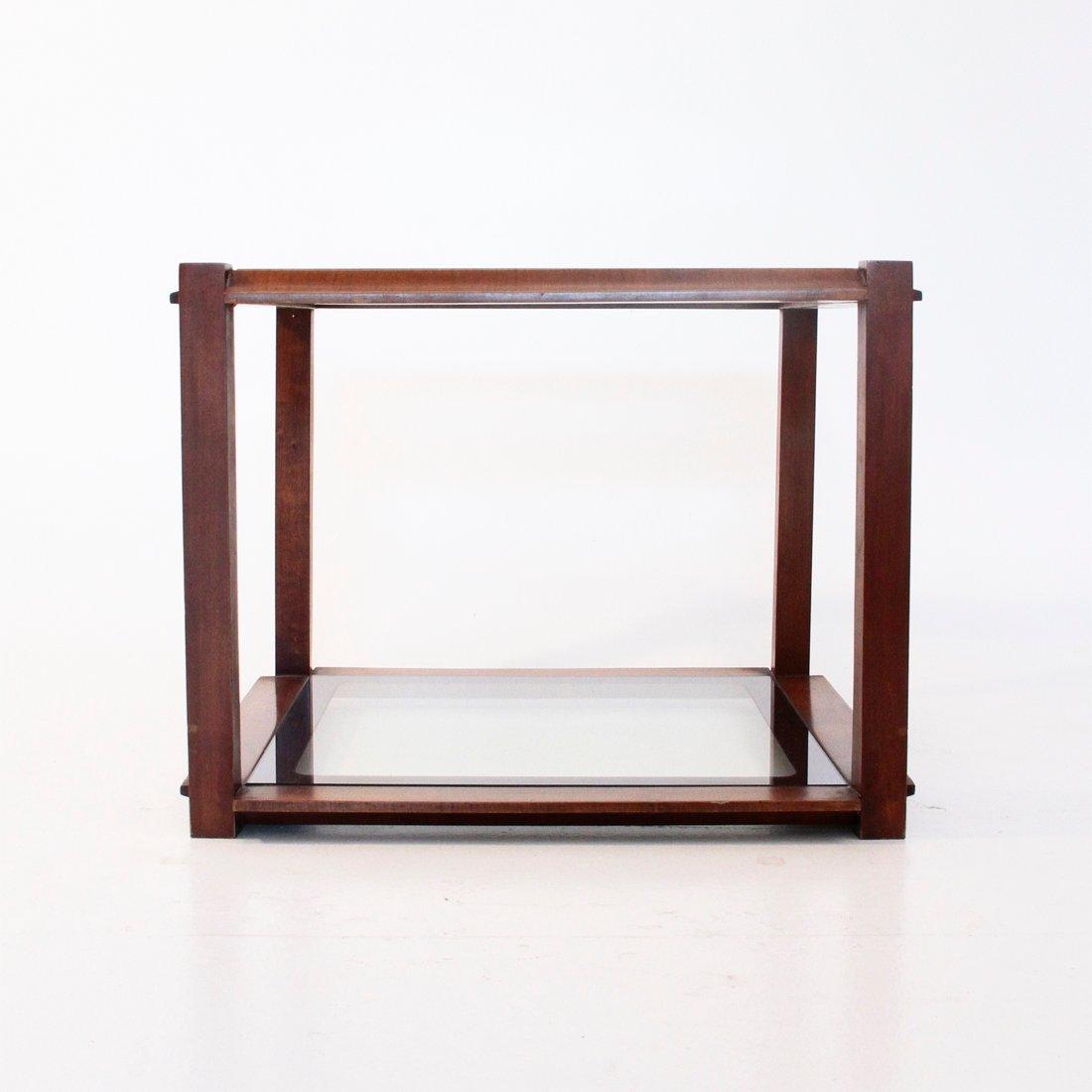 Table basse carr e en bois italie en vente sur pamono - Table basse carree en bois ...